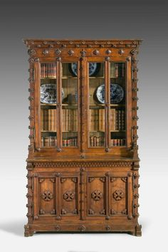 19th Century Mid-European Oak Carved Bookcase (Ref No. 6624) - Windsor House…