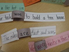 wk 9 make linking verbs into literal links to connect words in a sentence by estela Teaching Verbs, Teaching Language Arts, Classroom Language, Teaching Writing, Student Teaching, Teaching Ideas, Grammar And Punctuation, Grammar Lessons, Grammar Skills