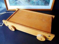 Vintage Wooden Blocks Box 1960s  Retro Wooden by SecretsOfThePast