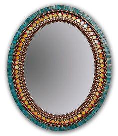 """Butterfly Mirror"" Mosaic Mirror Created by Angie Heinrich Rich teal Italian… Mirror Mosaic, Mosaic Diy, Mosaic Garden, Mosaic Crafts, Mosaic Tiles, Mosaics, Mosaic Wall Art, Glass Tiles, Mirror Mirror"
