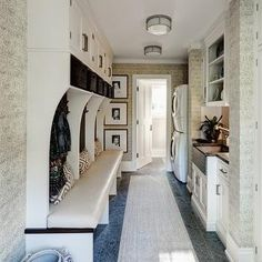 Mudroom Laundry Room, Transitional, laundry room, Andrea Goldman Design