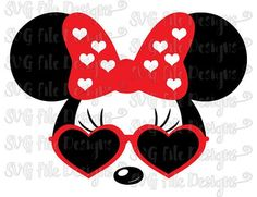 Minnie Mouse Heart Sunglasses Disney Layered by SVGFileDesigns - flower shirts for guys, white short sleeve mens shirt, mens colorful shirts *ad