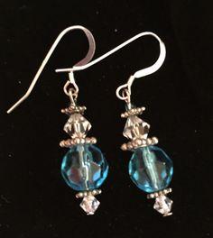 Turquoise Glass Earrings