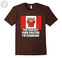 Mens Funny Canadian Food Poutine French Fries Canada Dish T Shirt XL Brown - Funny shirts (*Amazon Partner-Link)