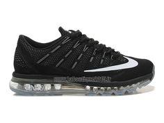 870e23e75125b Officiel Nike Air Max 2016 Chaussures Nike Running Pas Cher Pour Homme Noir  Blanc 764892-ID05
