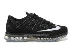 Officiel Nike Air Max 2016 Chaussures Nike Running Pas Cher Pour Homme Noir/Blanc 764892-ID05