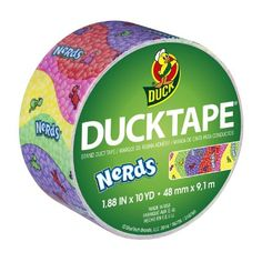 Duck Brand 283171 Nerds Printed Duct Tape, 1.88 Inches x 10 Yards, Single Roll
