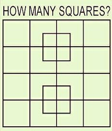 Find out the how many squares