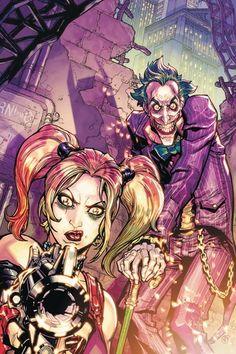 Joker & Harley Quinn - Batman: Arkham City by ernestine Batman Arkham City, Gotham City, Joker Arkham, Arkham Knight, Comic Books Art, Comic Art, Der Joker, Joker Art, Joker Comic