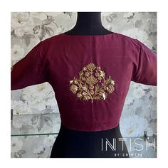 """Intish by Chintya ™️ on Instagram: """"Create your very own statement with some #classic #blouses . Intricate embroidery, gorgeous patterns and the best finish , for you and your…"""""""