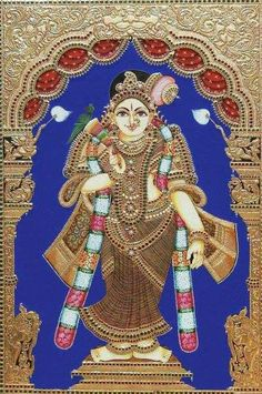 Tanjore painting of goddess...........