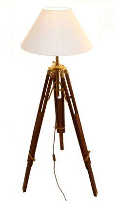 Stehlampe im Kolonialstil mit Stativ, max. Höhe 146 cm, Schirmdurchm. 35 cm | eBay