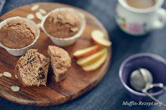 Zuckerfreies Muffinrezept für gesunde Ernährung, Apfel