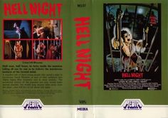Hell Night/Press Kit - The Grindhouse Cinema Database American Horror Movie, Classic Horror Movies, Horror Movie Posters, Horror Films, Half Man, Press Kit, Old Video, Scary Movies, Pray