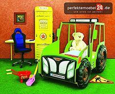 Kinderbett junge traktor  Amazon.de: TRAKTOR Bett Autobett Kinderbett Spielbett inkl ...