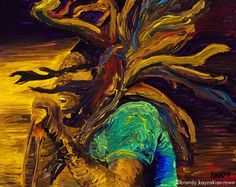 Bob Marley painting art print  Reggae music by BrandyKayzakianRowe, $20.00
