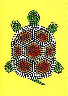 Dot-Painting - Schildkröte