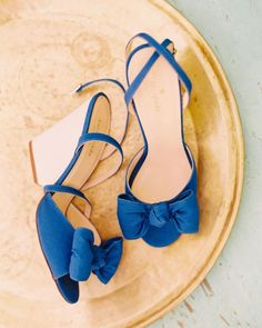 These Kate Spade shoes are perfect for a springtime wedding, and can even serve as your something blue!