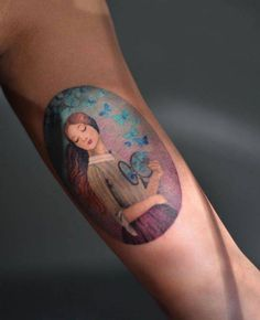 """""""Set Your Heart Free"""" by Christian Schloe inspired tattoo on the inner arm."""