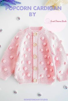 Baby Girl Cardigans, Knit Baby Sweaters, Knitted Baby Clothes, Baby Girl Patterns, Baby Clothes Patterns, Coat Patterns, Baby Cardigan Knitting Pattern Free, Kids Knitting Patterns, Crochet Doll Tutorial