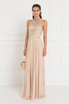 786831d2a7 Sheer illusion champagne prom dress GLS 1564-Simply Fab Dress