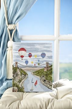 Balloon fiesta: Fly high over Clifton Suspension Bridge with Jenny Barton's fun design on p.14 http://www.myfavouritemagazines.co.uk/stitch-craft/cross-stitch-collection-magazine-back-issues/cross-stitch-collection-march-14-issue-233/