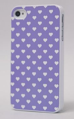 Purple POLKA HEARTS IPHONE CASE by BlissfulCASE #productdesign