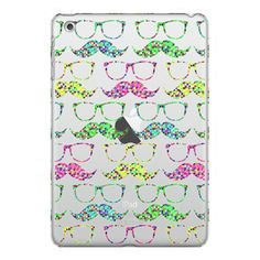 iPhone 6 Plus/6/5/5s/5c Case - Funny Mustaches Glasses Pattern Neon... ($40) ❤ liked on Polyvore featuring accessories, tech accessories, iphone case, pattern iphone case, print iphone case, apple iphone cases and pink iphone case