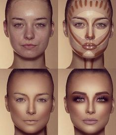 How To Do Make-up – Step By Step Ideas For The Good Look Spotlight contour hypnaughty.make-up samer khouzami mild pores and skin Makeup Contouring, Contouring And Highlighting, Skin Makeup, Highlight Contour Makeup, Makeup Cosmetics, Contour Makeup Products, Makeup Eyeshadow, Drugstore Makeup, Contouring For Beginners