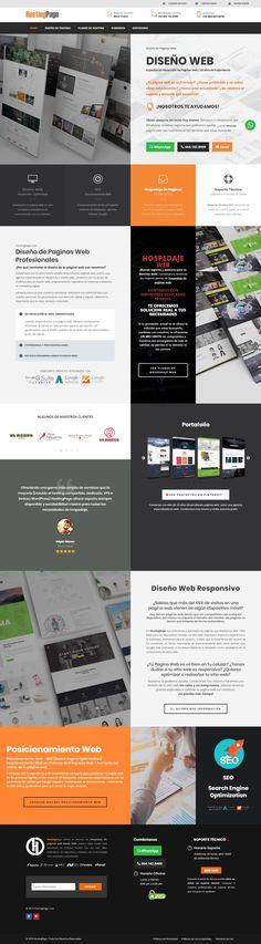 Diseño de Pagina Web dominio hostingpage.com / Desarrollado por iPage.Mx, compañia que pertenece a HostingPage Group Design Portfolio Layout, Page Layout, Design Web