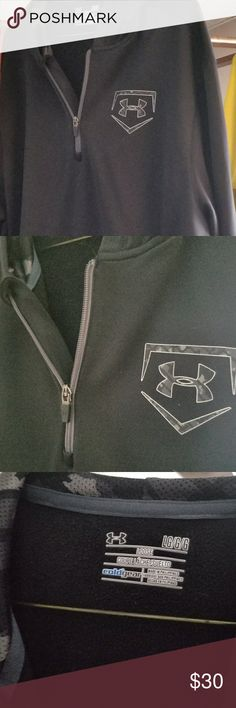 Under Armour Cold Gear Half Zip Hoodie This Under Armour Cold Gear half zip hoodie is super nice!!! I paid alot, it was wore once and well thats it. No rips or stains size Large! The under armour logo has the same camo design thats inside the hoodie! Super nice hoodie!! Its half zip with exterior pocket! THANKS FOR SHOPPING MY CLOSET! Under Armour Shirts Sweatshirts & Hoodies