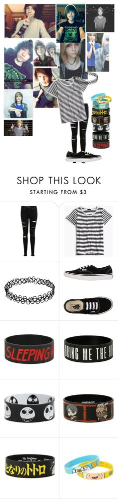 """Kyle David Hall"" by deathpanda12 ❤ liked on Polyvore featuring Miss Selfridge, J.Crew, Vans and Ghibli"
