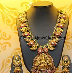 Mango Necklace Chandbali Jhumkas - Jewellery Designs