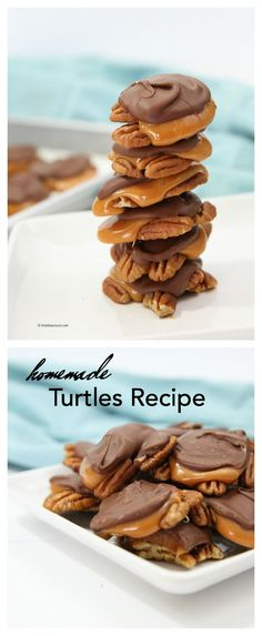 Learn how to make these delicious Chocolate Turtles with Pecans. They are so easy and make a great gift idea. Easy to follow Homemade Turtles Recipe.