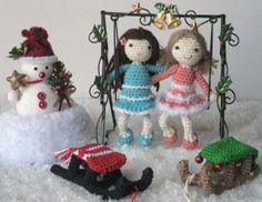 Amigurumi Girls with Sledge - FREE Crochet Pattern / Tutorial
