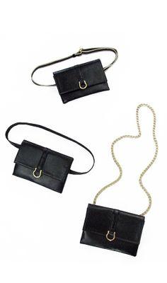 Black Flat Belt Bags, www.hipstersforsisters.com #fannypack #beltbag