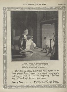 1910+Ad+Ivory+Soap+Little+Boy+Waits+for+Santa+Claus+at+Fireplace++12031910SEP