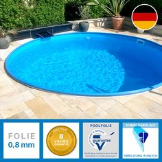 Hochwertig, langlebig und klassisch: POOLSANA Rundbecken mit Pooltiefe 1,35m. Top-Qualität zu fairen Preisen!