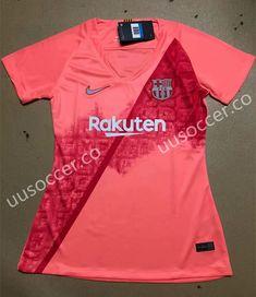 cc9fed3f0ff 2018-19 Barcelona 2nd Away Pink Thailand Women Soccer Jersey AAA Cheap  Footballs