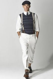 Suspenders and a Cap...love this look!