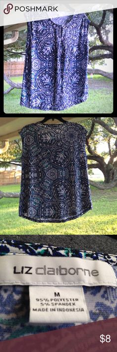 """✨SUMMER TOP✨. NWOT """"STRETCHY, CLASSY WITH FLORAL DESIGN"""". Liz Claiborne Tops Blouses"""