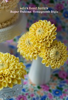 How To Make Sugar Dahlias — Lulu's Sweet Secrets