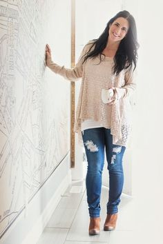 Image of Grace and Lace Lightweight 2 Fit Knit Cardigan - Tan