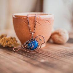 Free Pattern: Wire Bird Pendant with Cabochon By Oksana Truhan   Jewelry Making Instructions   Bloglovin' #jewelrymaking