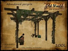 Abandoned pergola - Old World - broken gazebo - Medieval / Rustic