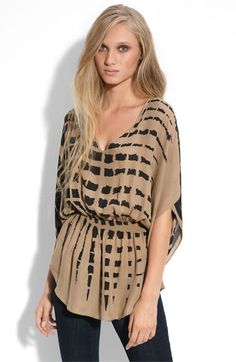 Parker Printed Silk Top tunic - just add leggings and boots