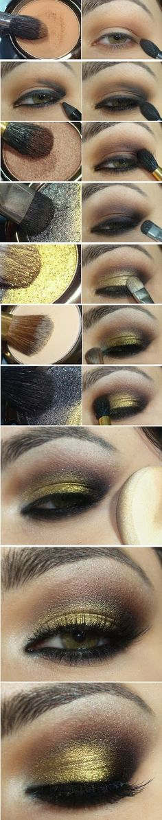 Gold and Brown Smokey Makeup Tutorials / Best LoLus Makeup Fashion