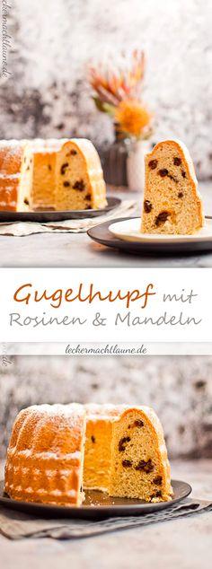Ein Klassiker: Hefe-Gugelhupf mit Mandeln und Rosinen. Nicht schwer zu machen und lecker. :)
