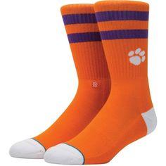 Stance Clemson Tigers Striped Socks, Boy's, Size: Large, Team