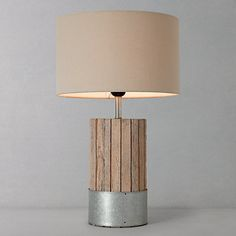 Buy John Lewis & Partners Brenna Table Lamp from our Table Lamps & Bases Test range at John Lewis & Partners. Lamp Design, Table Lamp Base, Wood Light, Lamp, Desk Lamps, Desk Light, Bedside Lamp, Lamp Bases, Bedroom Lamps